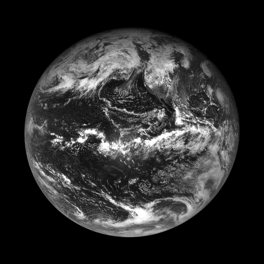 Zdjęcie Ziemi wykonane przez kamerę NavCam1 sondy OSIRIS-REx z odległości 110000 km /Materiały prasowe