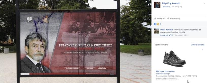Zdjęcie zniszczonej planszy opublikował radny Warszawy Filip Frąckowiak /facebook.com