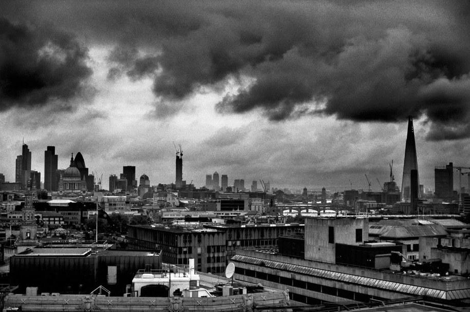 Zdjęcie zrobione z dachu /Bogdan Frymorgen /RMF FM