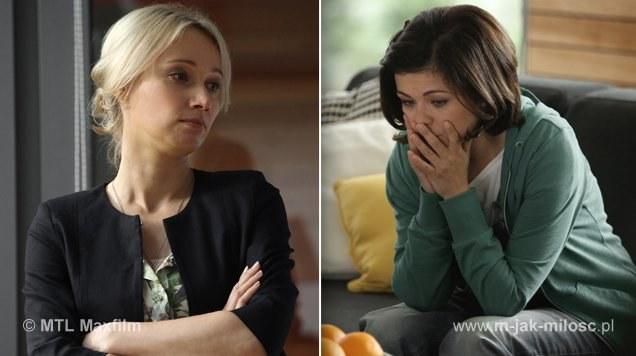 Zduńska zauważa przypadkiem, że Lubińska wyprowadza się z Deszczowej… I podejrzewa, że Beata otruła męża - i próbuje uciec. /www.mjakmilosc.tvp.pl/