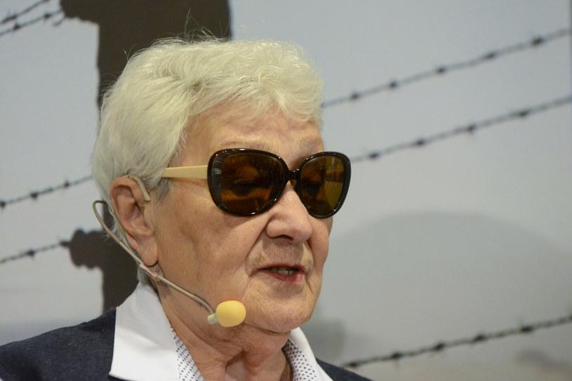 Zdzisława Włodarczyk podczas spotkania z byłymi więźniami obozu Auschwitz-Birkenau, które odbyło się w 2020 roku /Michal Dubiel/REPORTER /East News