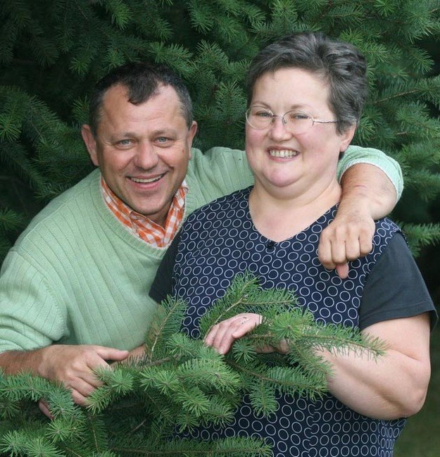 Ze zmarłą żoną Luizą /Gryzewski /East News