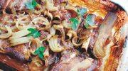 Żeberka pieczone w słodkich malinach