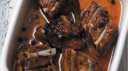 Żeberka wieprzowe pieczone z miodem i jałowcem
