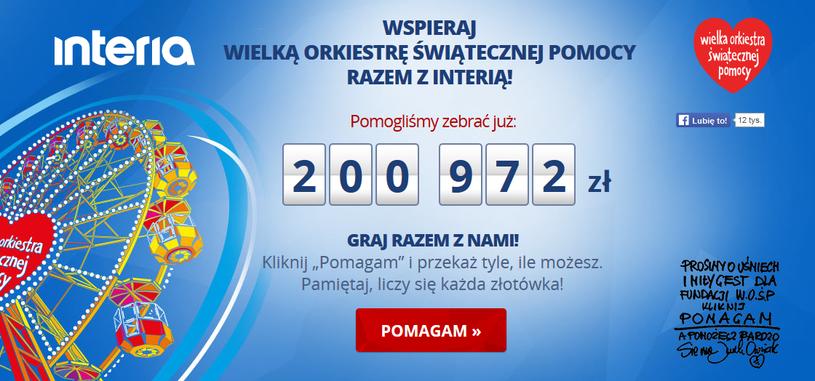 Zebraliśmy już 200 tys. zł /INTERIA.PL