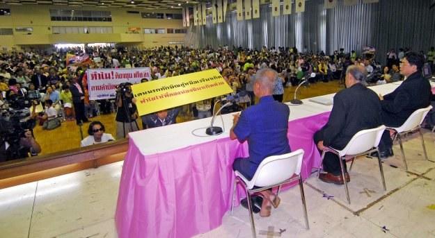 """Zebranie """"Żółtych koszul"""" w Bangkoku /AFP"""