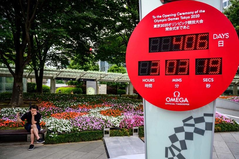 Zegar odmierzający czas do ceremonii otwarcia igrzysk olimpijskich w Tokio /PAP