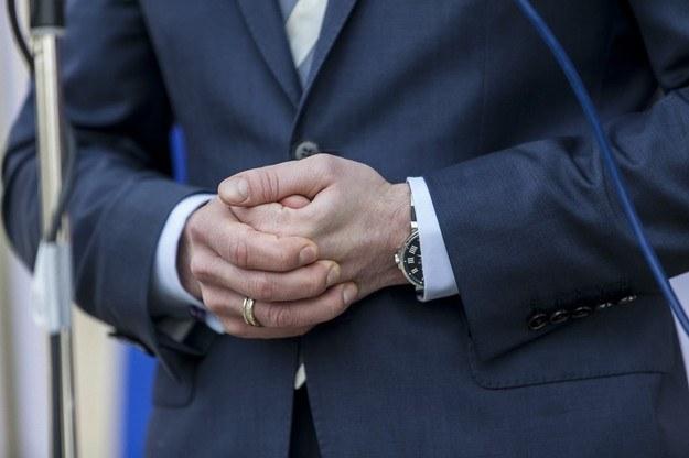 Zegarek ministra Nowaka. /Szymon Blik /Reporter