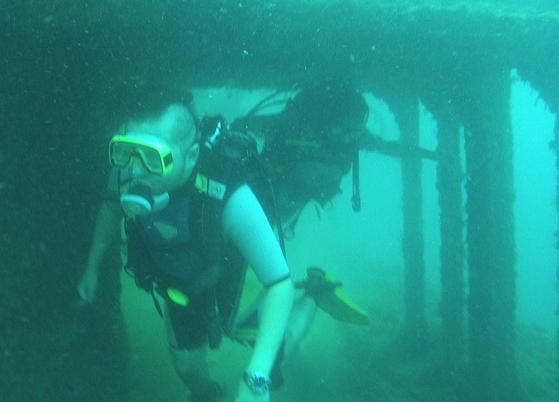 Zegarek świetnie spisuje się w czasie nurkowania. Na zdjęciu podczas testów na głębokości 16 metrów /INTERIA.PL