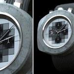 Zegarek z betonu bezlitośnie odlicza minuty