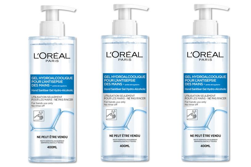 Żele do sanityzacji rąk L'Oréal Paris są bezpłatnie przekazywane szpitalom /materiały prasowe
