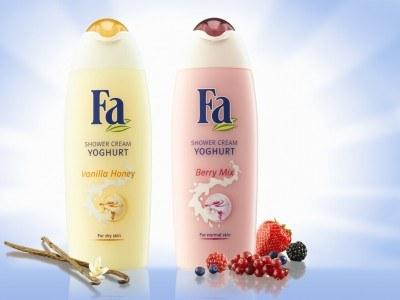 Żele pod prysznic Fa Yoghurt Vanilla Honey i Fa Yoghurt Berry Mix /materiały prasowe