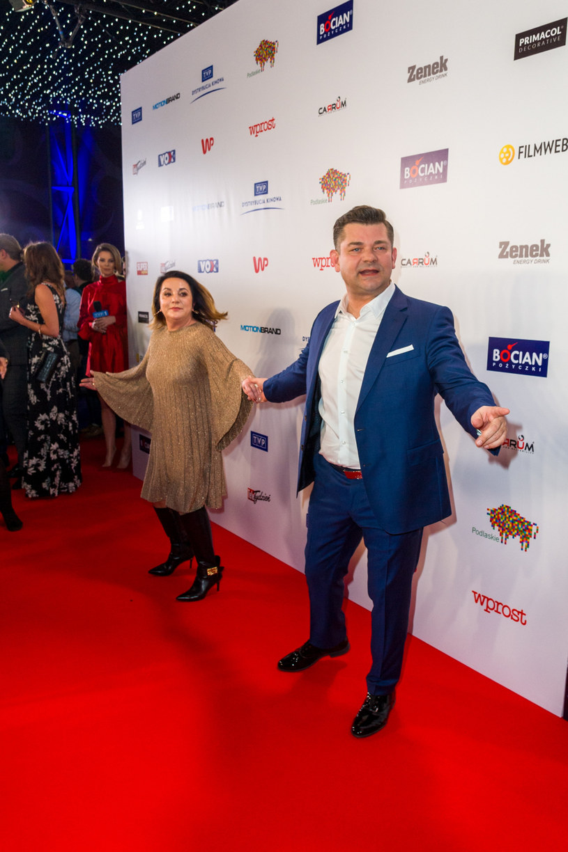 Zenek Martyniuk, Danuta Martyniuk na ściance /Artur Zawadzki /Reporter