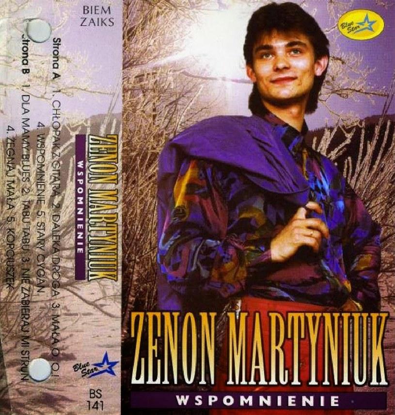 """Zenek Martyniuk na okładce płyty """"Wspomnienie"""" z 1994 roku /"""