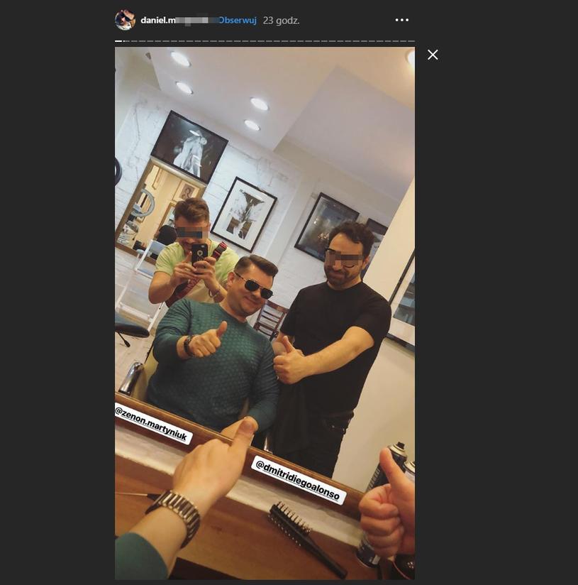 Zenek Martyniuk u fryzjera (Screen z instagram.com/daniel.martyniuk) /Instagram /Instagram