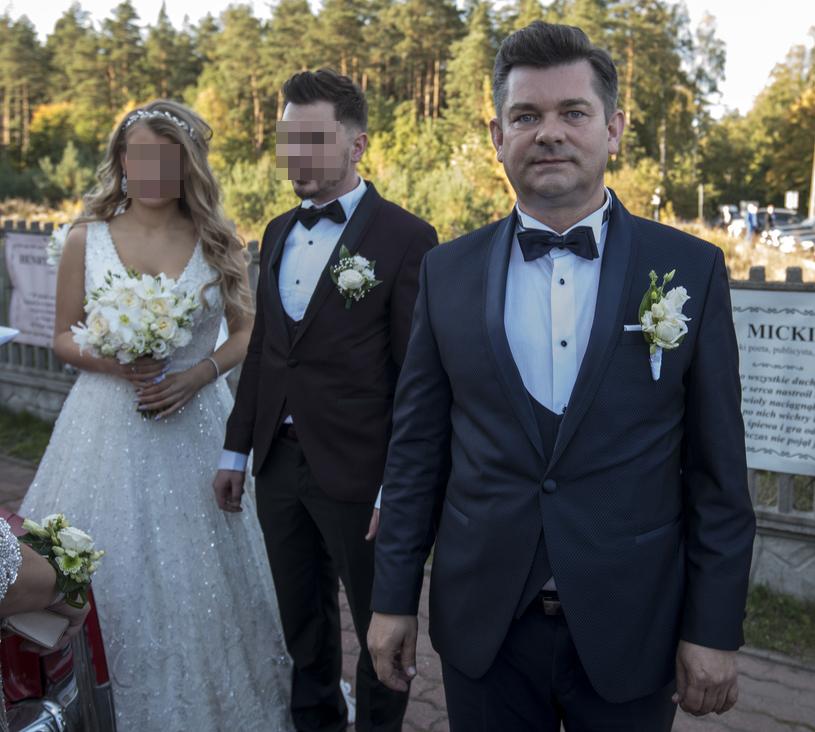Zenek Martyniuk z synem i synową /Michał Kość /Agencja FORUM