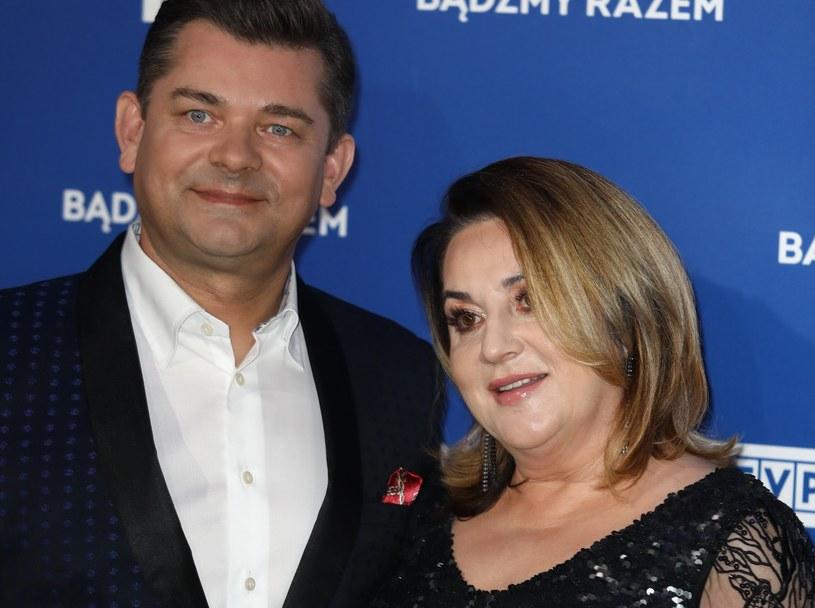 Zenon Martyniuk i jego żona Danuta pobrali się bardzo wcześnie /Piotr Molecki /East News