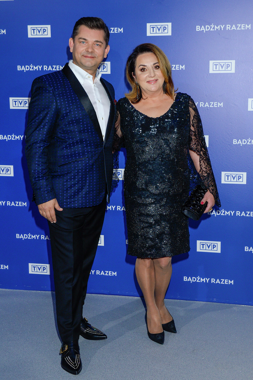 Zenon Martyniuk z żoną Danutą na prezentacji ramówki TVP /AKPA