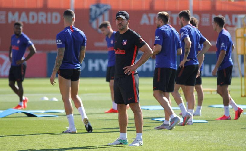 Zespół Atletico Madryt podczas treningu /PAP/EPA
