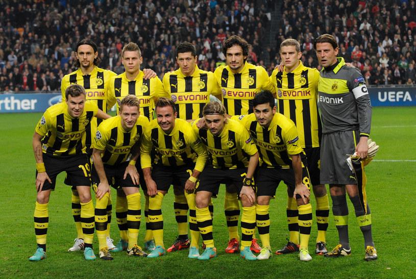 Zespół Borussii przed meczem z Ajaxem Amsterdam /AFP