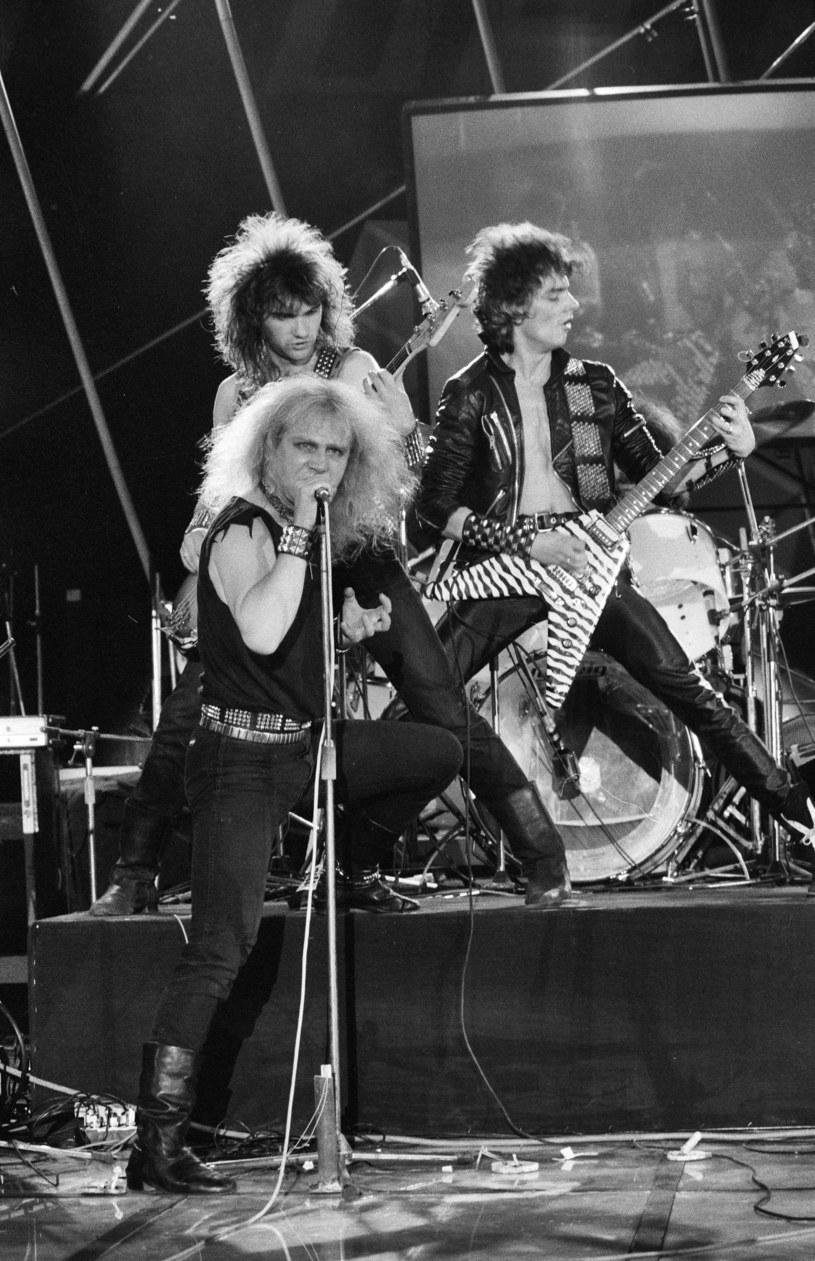 Zespół Kat w 1986 r., z mikrofonem Roman Kostrzewski, z prawej Piotr Luczyk /Jacek Barcz /Agencja FORUM