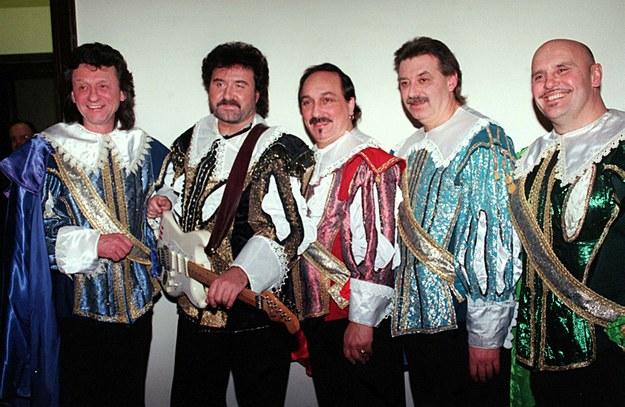 Zespół Trubadurzy w składzie: Krzysztof Krawczyk (2L), Sławomir Kowalewski (C), Piotr Kuźniak (2P), Marian Lichtman (P) / Adam Urbanek /PAP