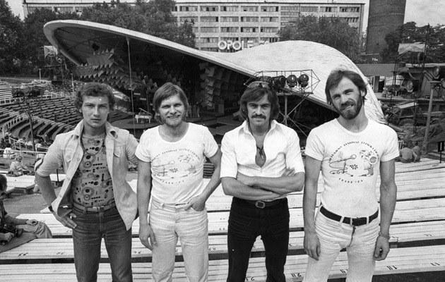 Zespoł Vox, od lewej: Jerzy Słota, Andrzej Kozioł, Witold Paszt, Ryszard Rynkowski /fot.A. Wiernicki  /Agencja FORUM