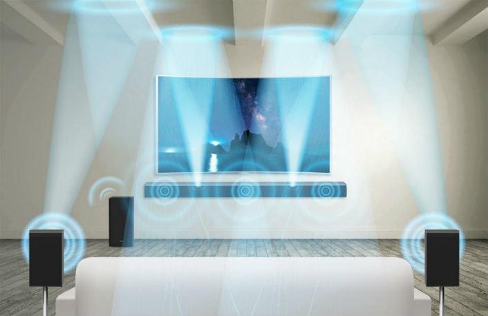 zestaw z soundbarem HW-K950 zapewnia wielokanałowy dźwięk w układzie 5.1.4 /materiały prasowe