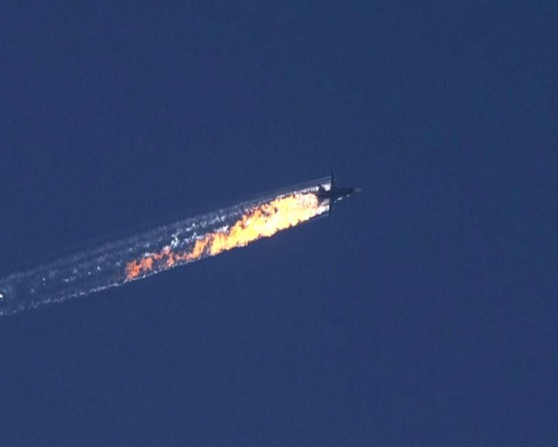 Zestrzelenie rosyjskiego samolotu /HABERTURK TV CHANNEL /PAP/EPA