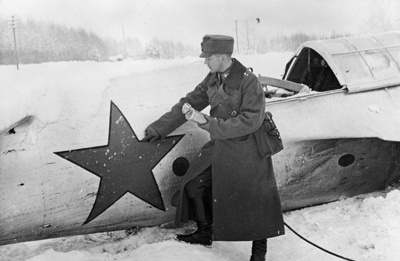 Zestrzelony przez Finów w 1939 roku radziecki bombowiec SB-2 /Getty Images/Flash Press Media