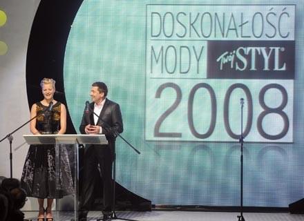 zeszłoroczny konkurs Doskonałość Mody poprowadzili: M. Kożuchowska i J. Szmidt/fot. Andreas Szilagyi /MWMedia