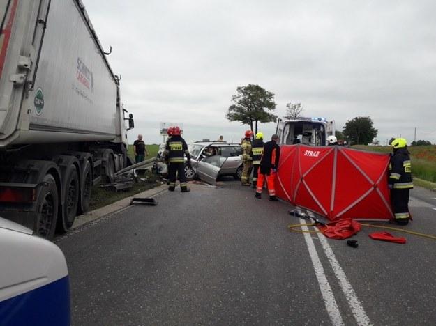 Zginęła kierująca samochodem osobowym /KPP Płońsk /Policja