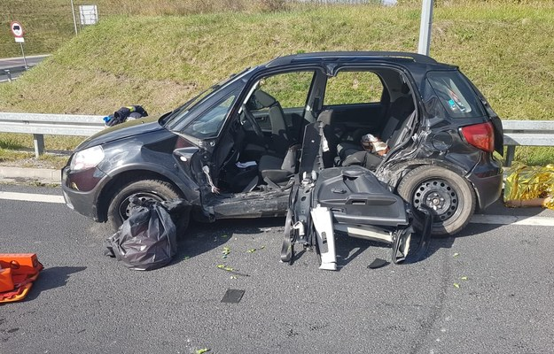 Zginęły 4 osoby jadące fiatem /PSP Olecko /PSP