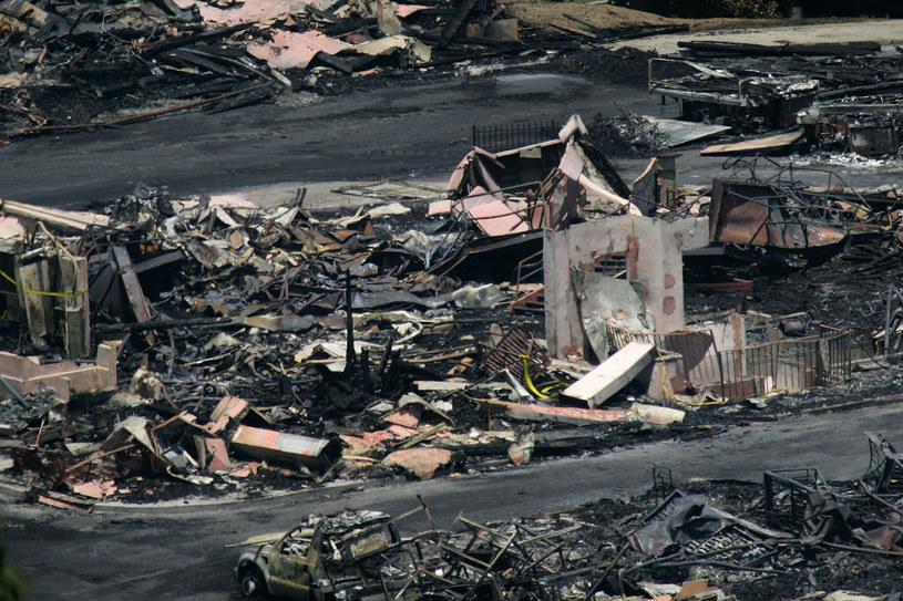 Zgliszcza po pożarze Universal Studios /David McNew /Getty Images