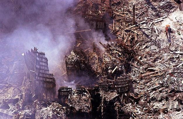 Zgliszcza World Trade Centre w Nowym Jorku / HUBERT MICHAEL BOSL /PAP/EPA
