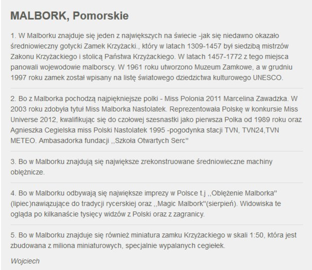 Zgłoszenie Malborka /RMF24