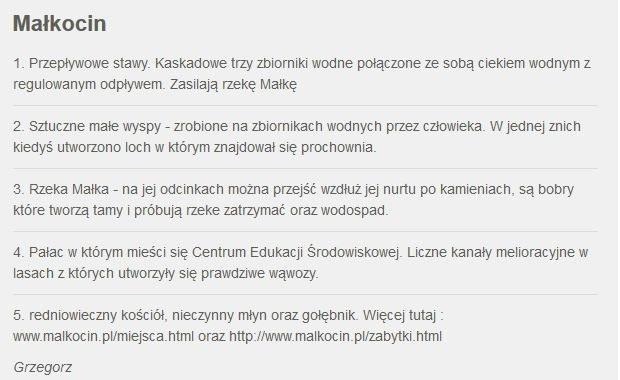 Zgłoszenie Małkocina /RMF FM