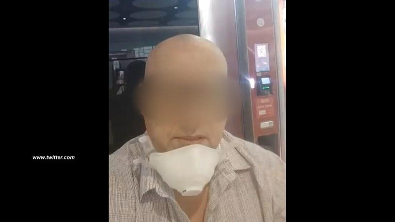 Zgolił włosy i brwi. Wyłudzał pieniądze udając chorego /Screen z Polsat News /Polsat