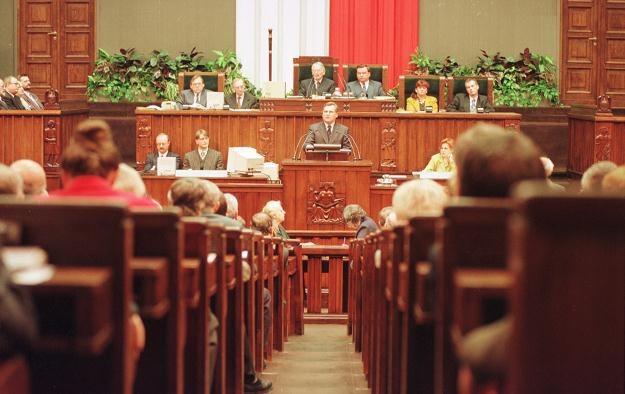 Zgromadzenie Narodowe 02.04.1997, fot. J. Ostałowski /Agencja FORUM