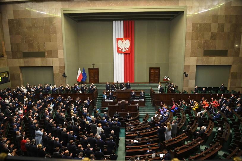 Zgromadzenie Narodowe w Sejmie / Radek Pietruszka   /PAP