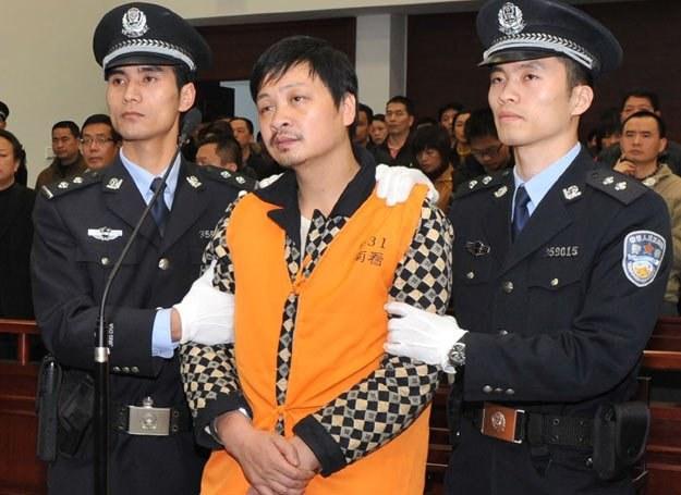 Zheng Minsheng po usłyszeniu wyroku... /AFP