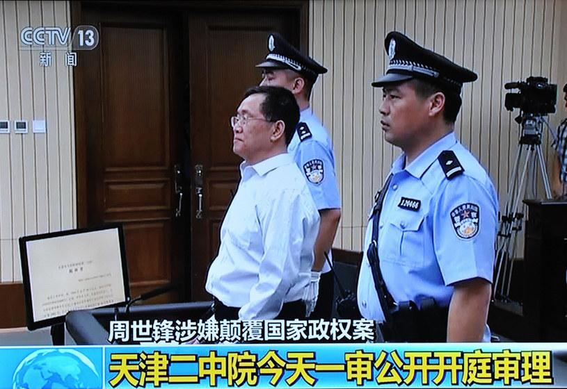 """Zhou Shifeng, szef kancelarii Fengrui, który próbował bronić osoby niesłusznie aresztowane i oskarżone przez totalitarne władze, sam trafił do więzienia na 7 lat za """"działalność wywrotową"""" /An xin - Imaginechina /East News"""