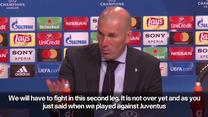 Zidane po meczu Bayern - Real 1-2 w półfinale LM. Wideo