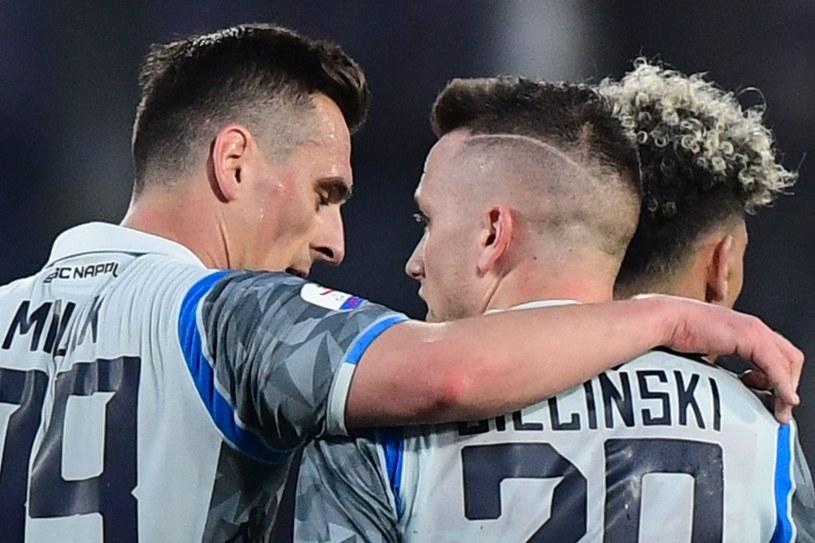 Zieliński i Milik w meczu z Empoli /AFP