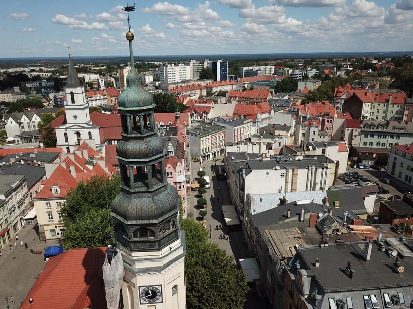 Zielona Góra z lotu ptaka. Zdjęcie wykonano dronem /Fot. Piotr Jedzura /Reporter