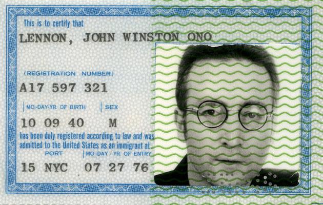Zielona Karta Johna Lennona  /Splashnews