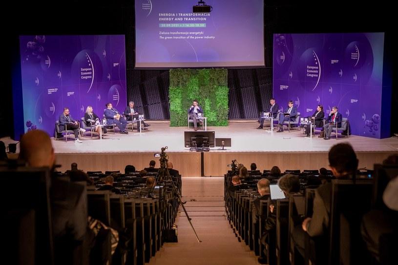Zielona transformacja energetyki. XIII Europejski Kongres Gospodarczy w Katowicach /Fot. Ireneusz Rek /INTERIA.PL