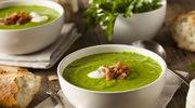 Zielona zupa z bekonem