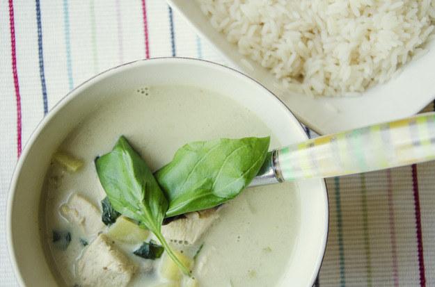 Zielone curry z kurczakiem, fot. Malwina Zaborowska /RMF24
