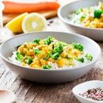 Zielone curry z soczewicy